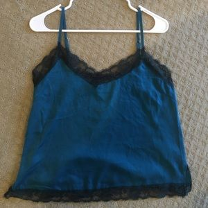 Urban Outfitters Blue and black lace top